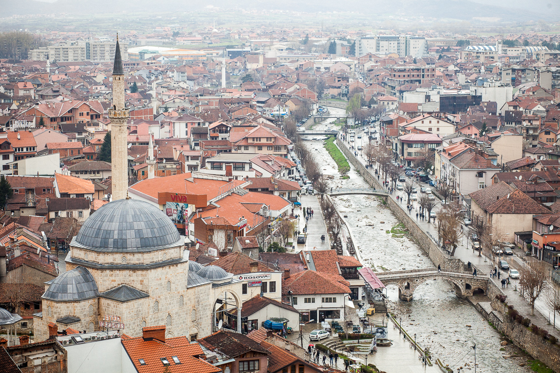 The Albanian city of Prizren, in the south of Kosovo