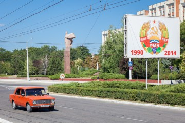 Like in many countries in eastern Europe, people still drive their old Russian Lada's.