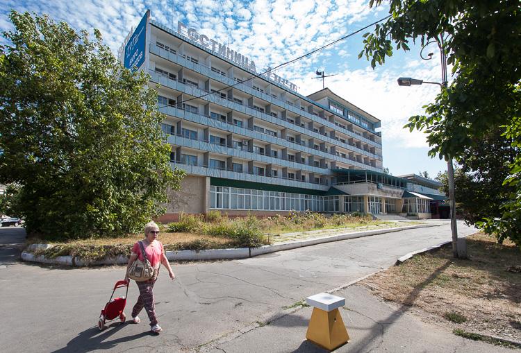 Soviet hotel Aist, in the centre of Tiraspol