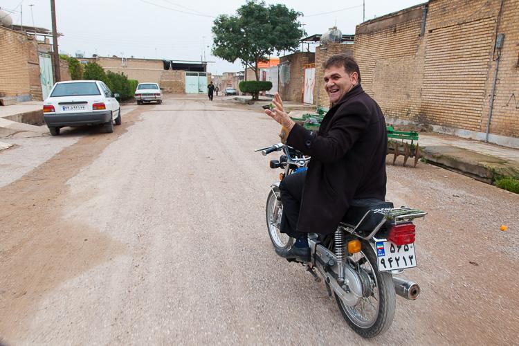 Driving through Montazeri, a tiny village near Iraq
