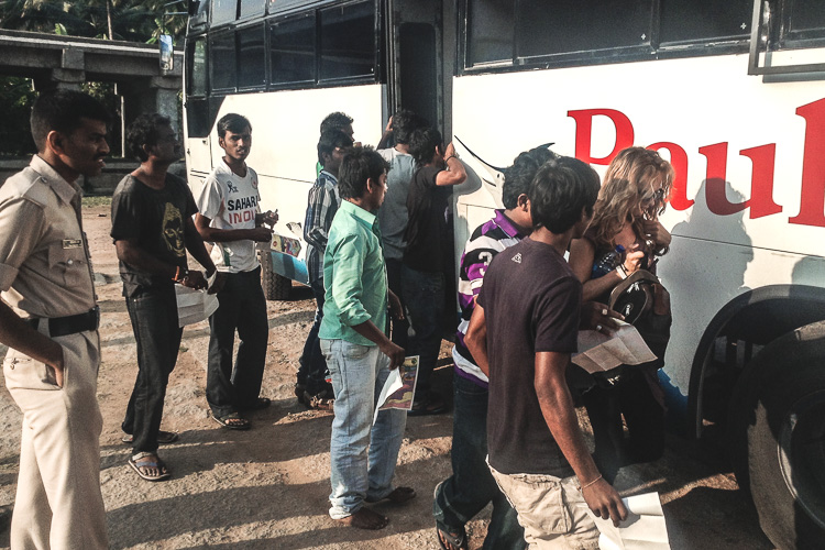 Upon arrival of the overnight bus in Hampi, India, an army of intrusive taxi drivers welcomed us with an obvious scam