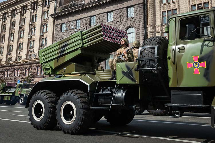 Bastion-1 122mm (BM12 Grad) multiple rocket launcher.