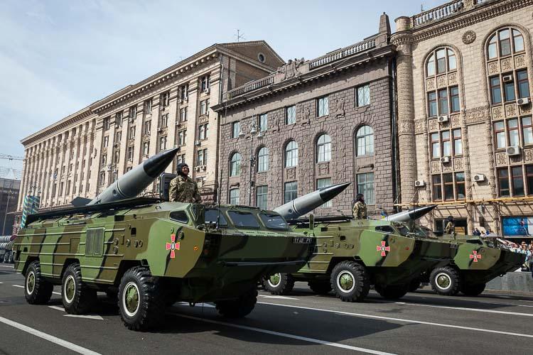OTR-21 Tochka tactical ballistic missiles.