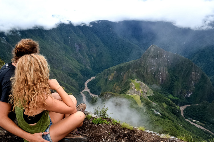 Lando and his girlfriend at Machu Picchu, Peru