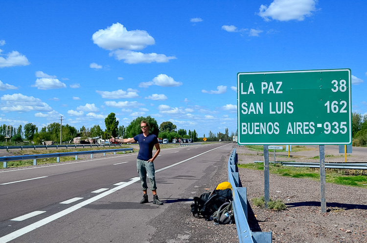 Hitchhiking in Mendoza, Argentina