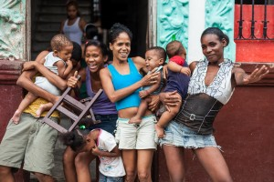 A group of mothers in Havana Vieja