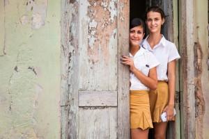 School girls in Trinidad