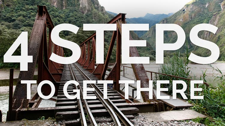 Steps to get to Machu Picchu