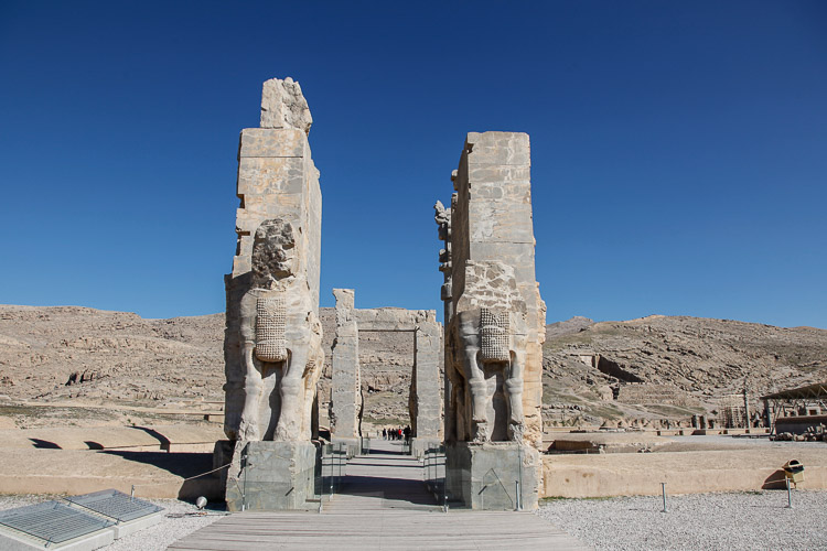 The entrance to Persepolis, an important archaeological site near Shiraz