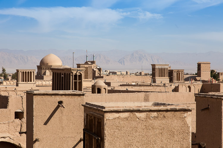 More wind towers in the city of Yazd.