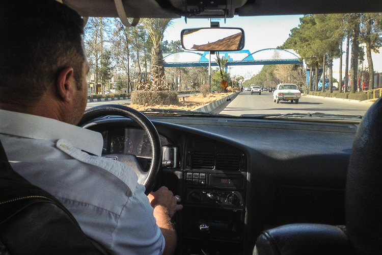 Sitting inside a taxi in Shiraz, minutes after I arrived in the country