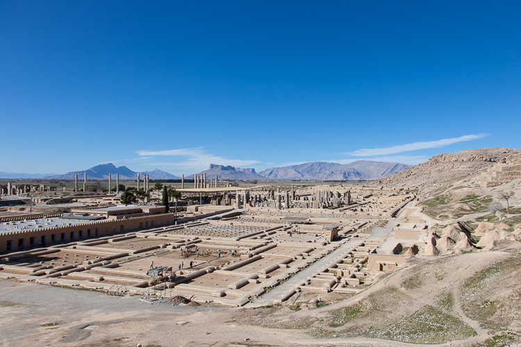 Persepolis, a major tourist site near Shiraz, for only €0.15 entrance