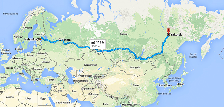 Hitchhiking almost 10.000 kilometers to the middle of nowhere in Siberia