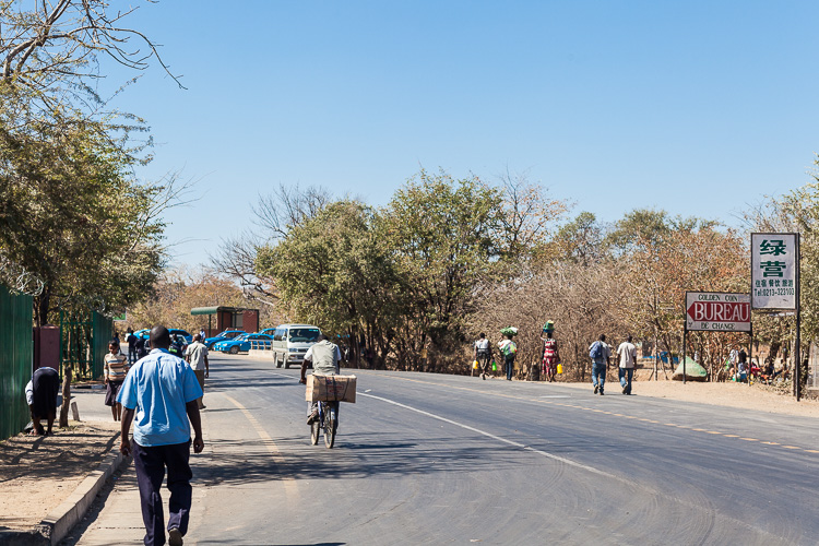 A look inside Zambia, after having crossed into the country without a visa