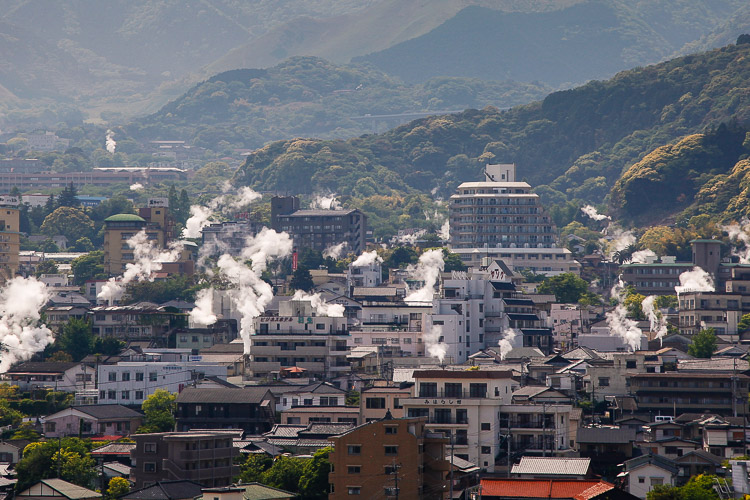 10% of the hot springs in Japan are located in Beppu