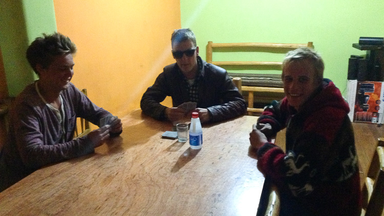 A random night in Potosi (Bolivia) that started with a drinking game around a small bottle of pure alcohol (!). The night would soon get out of hand pretty quickly