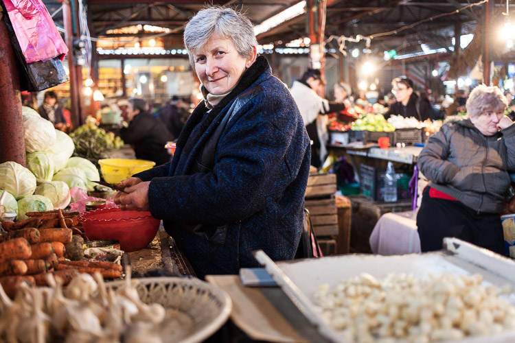 The market in Kutaisi offers a great opportunity to practice the language with the locals