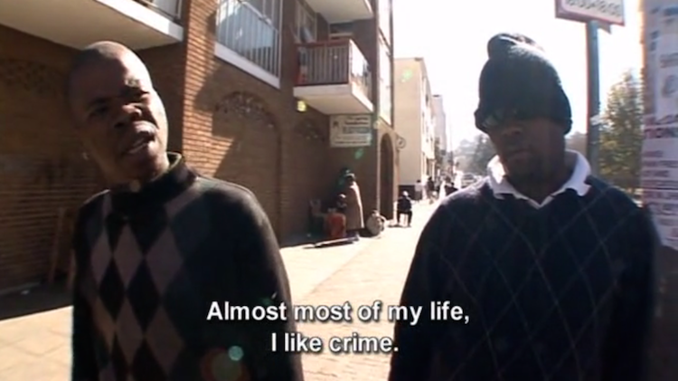 "Screenshot of ""Law and Disorder in Johannesburg"", a documentary by Louis Theroux"