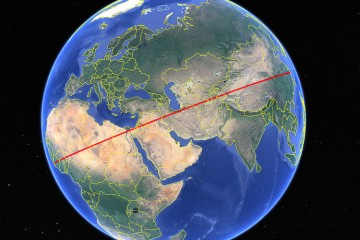 The Longest Overland Route in a Straight Line