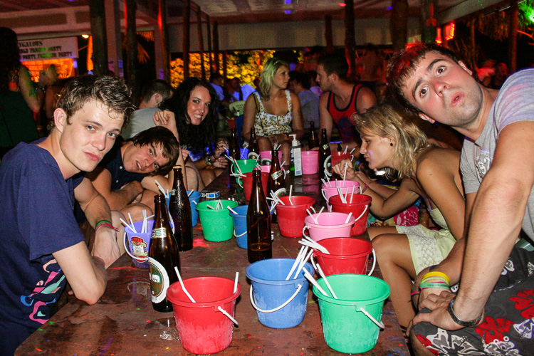 British backpackers boozing up at a pool party on the island of Ko Pha Ngan, Thailand (I shot this picture myself in 2009, the people here have no relation to the story whatsoever)
