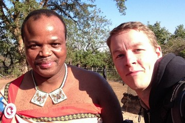 The world's first ever selfie with Mswati III, the King of Swaziland.