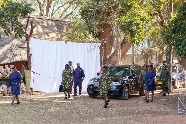 The arrival of Mswati III, the current king of Swaziland