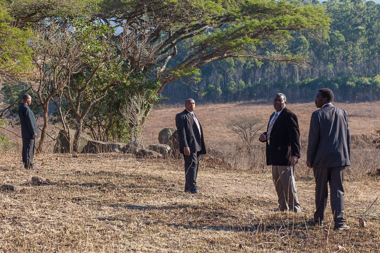 Some of Mswati III's private security men on edge.