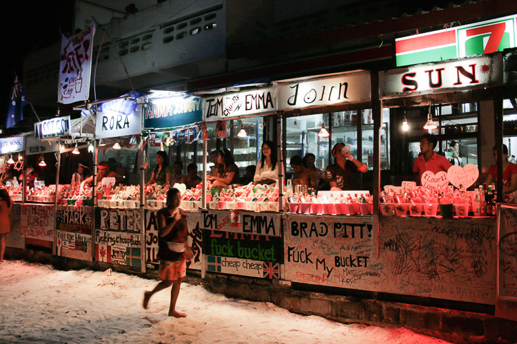 Bucket stalls. A photo I took back in 2009 when I was on Ko Pha Ngan