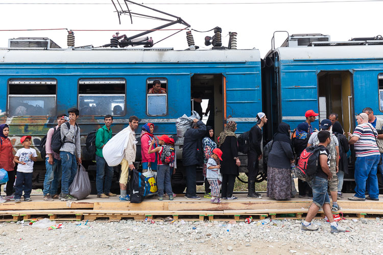 Gevgelija refugee camp