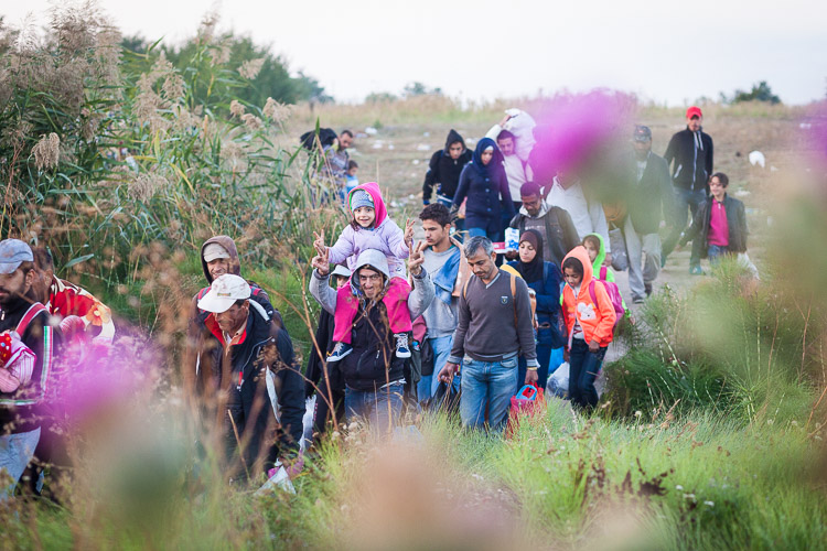On an early morning, thousands of refugees cross into Serbia from Macedonia.