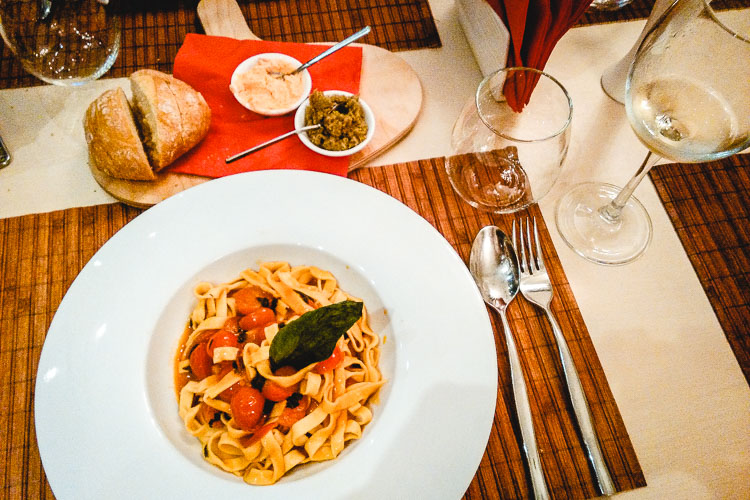 Italian food in Tirana