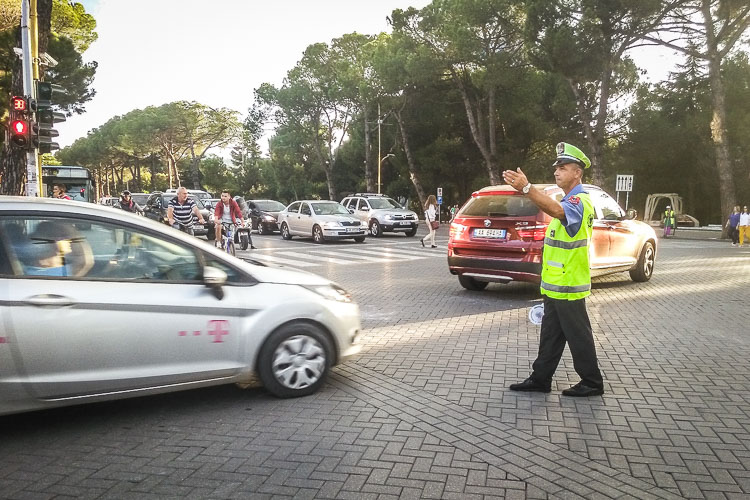 Traffic police Tirana