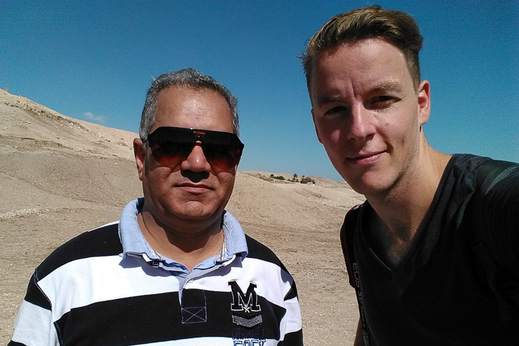A selfie with Egypt's Minister of Antiquities.