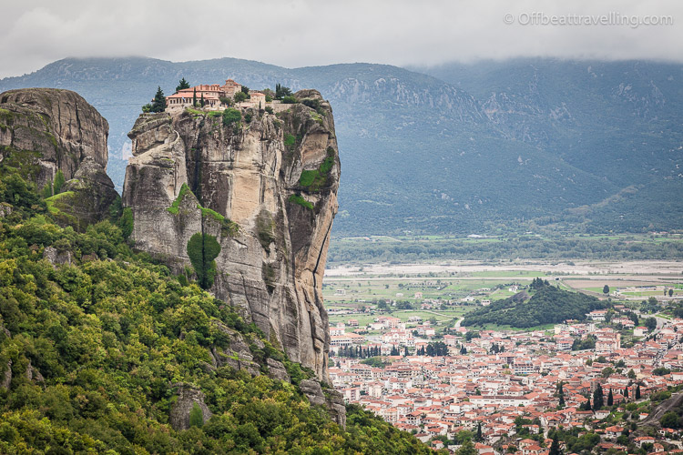 Monastery of the Holy Trinity - The Meteora are UNESCO protected complexes with Greek Orthodox monasteries, built on top of almost inaccessible rock formations.