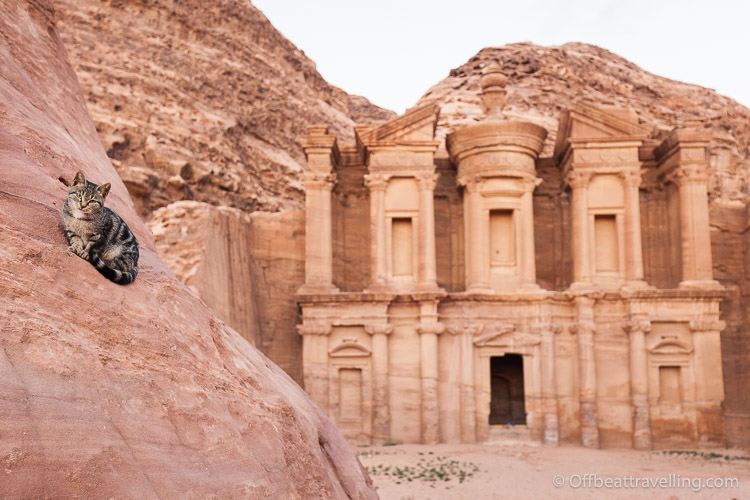 The ancient rose-red city of Petra, in Jordan.