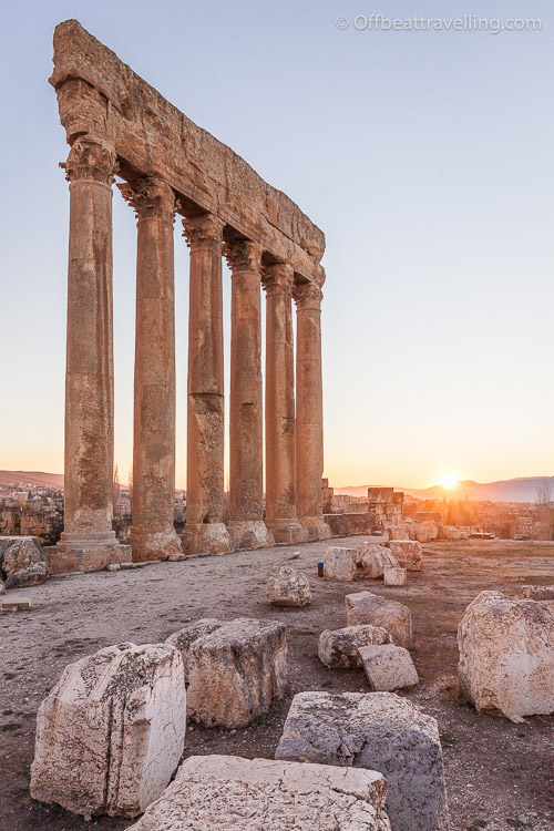 The remaining columns of the Tempel of Jupiter. Out of the original 58, today only 6 columns remain.