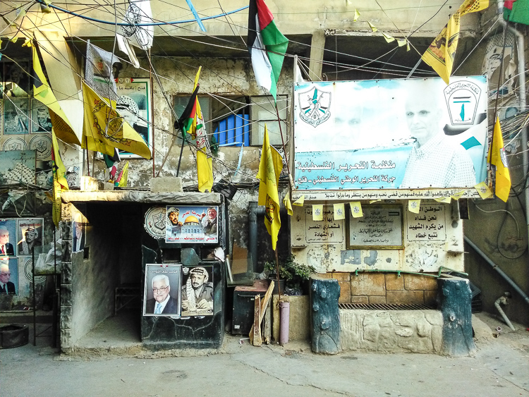 Inside a Palestinian camp in south Beirut, where people support among others Hezbollah and Syrian president Assad.