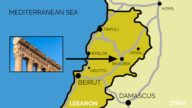 Map Baalbek