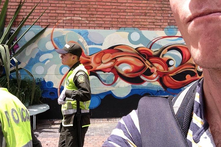 Bogota police escort