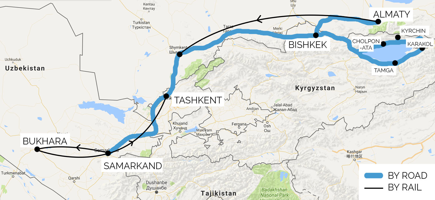 Route Central Asia