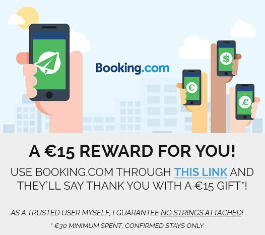 Booking.com €15 cash reward