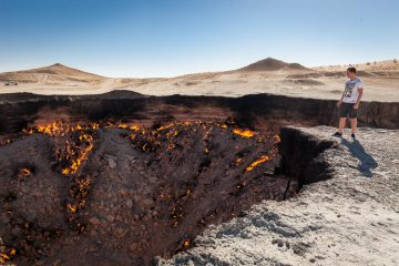 Forbidden Hitchhiking to the 'Door to Hell' in Turkmenistan