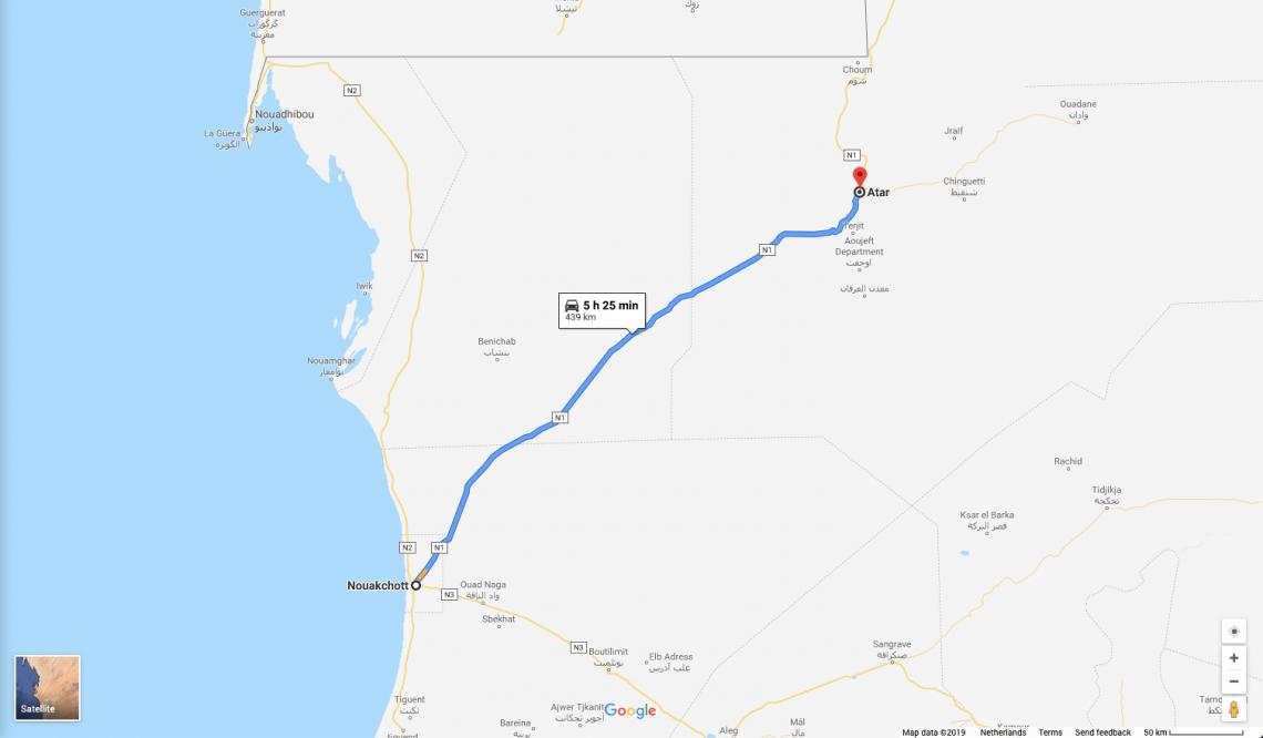 Nouakchott to Atar